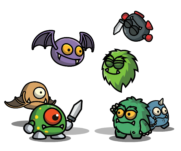 Cartoon Enemy Pack 2