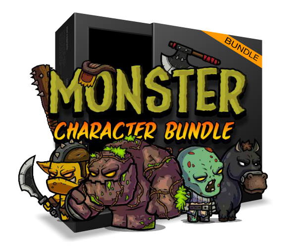 Monster Character Game Art Bundle