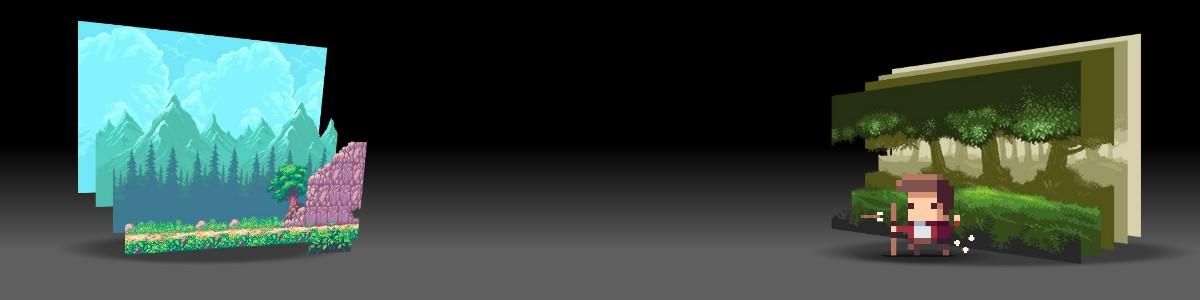 pixel art top slider
