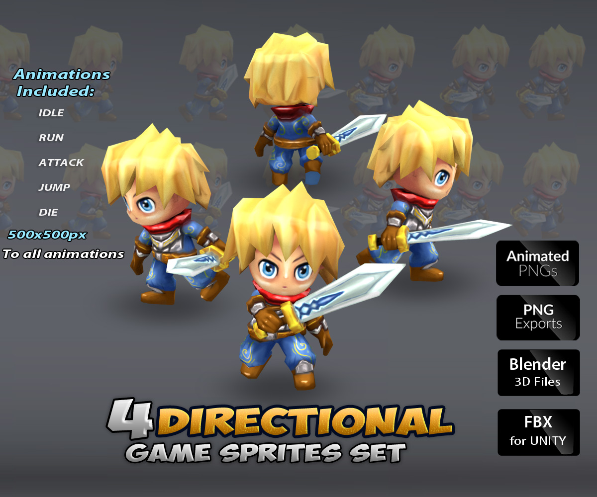 Archers 2D Game Character_Sprite_Sheets Gallery Template