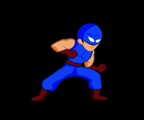 Blue Warrior Royalty Free Game Art 2