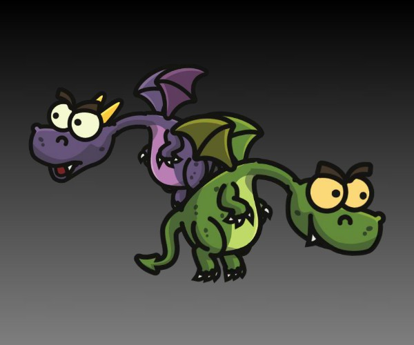 Royalty free dragon character 2