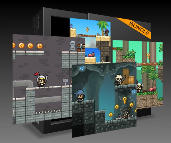 Bundle Icon for 6 pack of tileable levels
