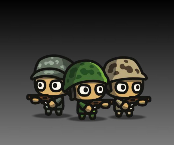 Super Tiny Army Royalty Free Game Art
