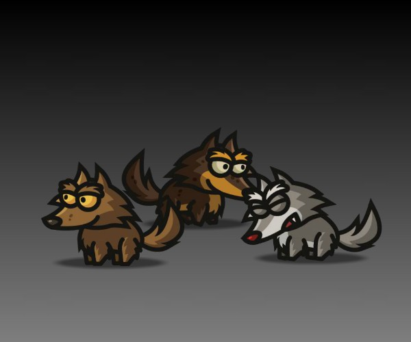 Wolves Royalty Free Game Art 2