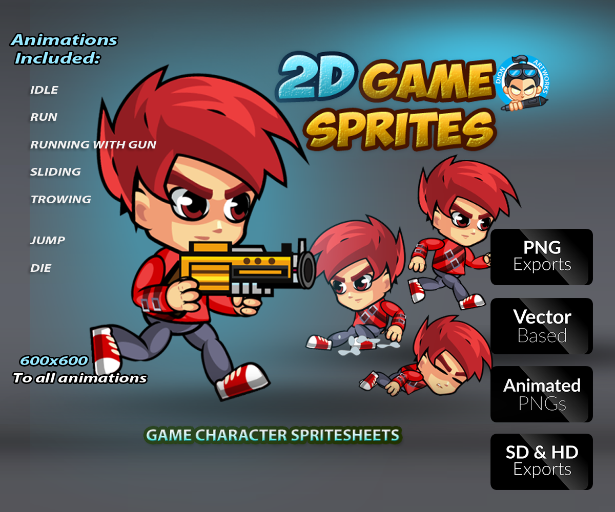 2D Game Character Sprite Sheets Gallery Royalty Free Game Art