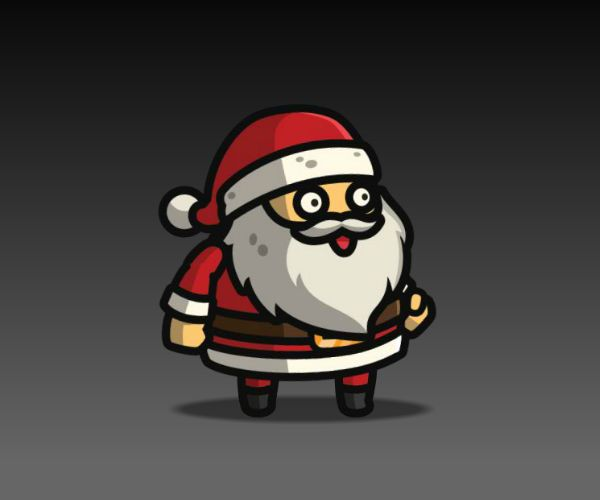 Santa Claus royalty free game art