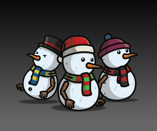 Snow Man royalty free game art