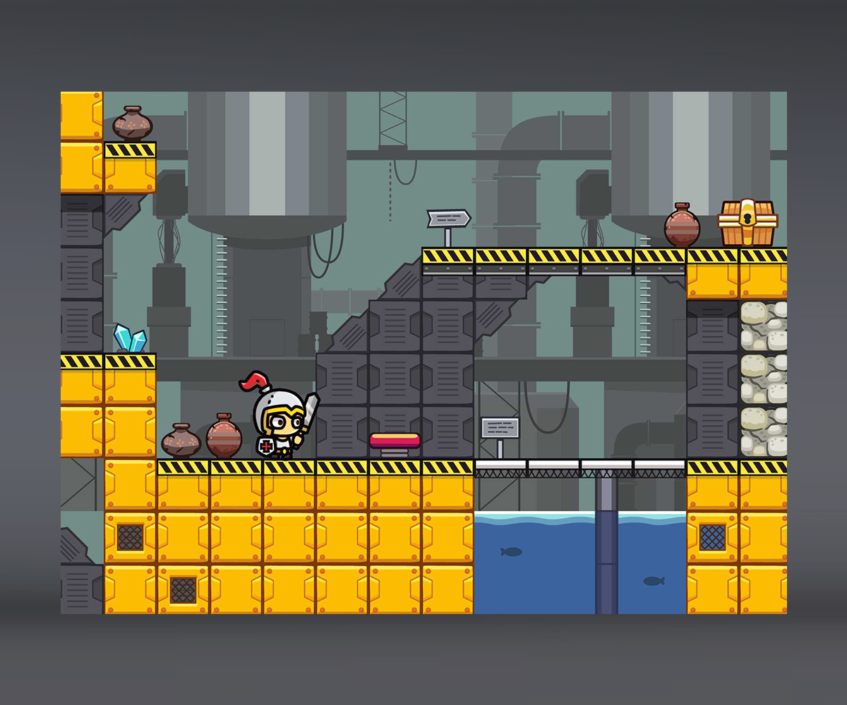 Factory level tileset by uvector