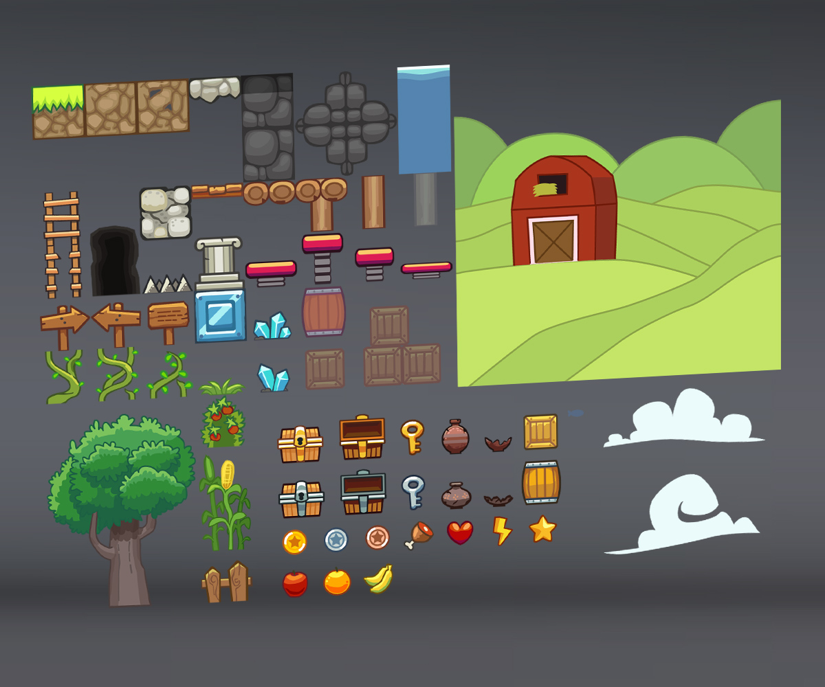 Farm tileset by uvector