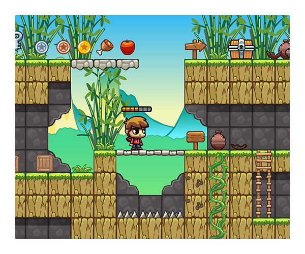 Bamboo Mountain Level Tileset by Uvector