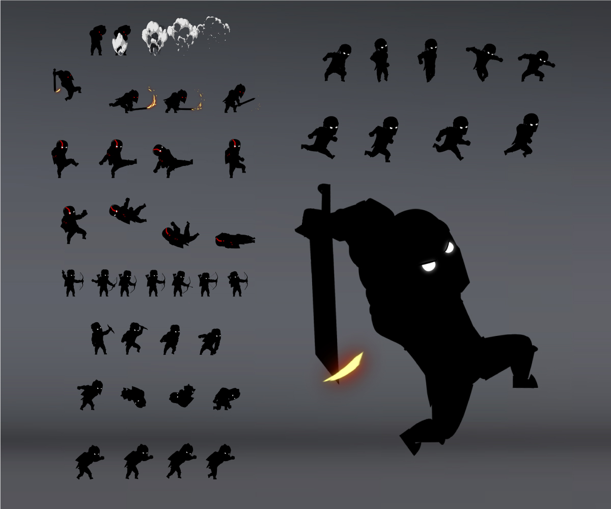 shadow warrior spritesheets