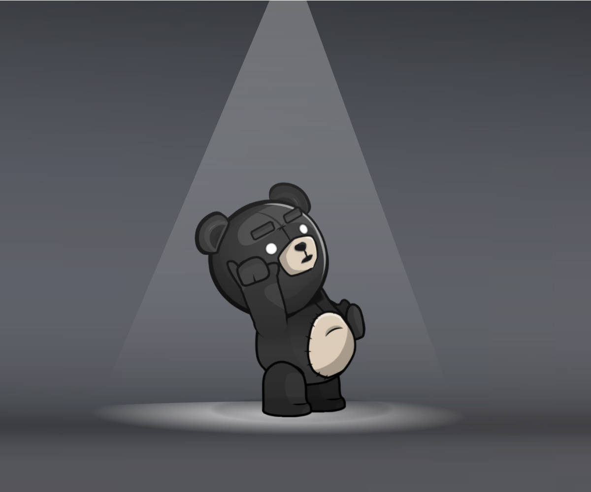Dark Teddy Bear TED
