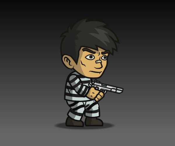 Prisoner Royalty Free Game Art