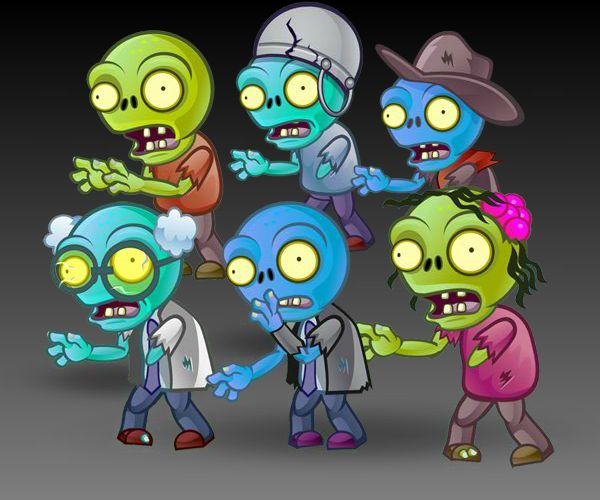 6 Zombies Character Sprites Set Game Art Partners