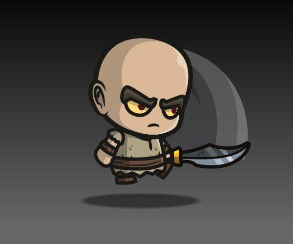 Scary bald guy
