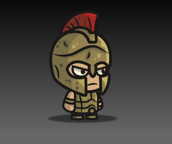 Greek Warrior Royalty Free Game Art