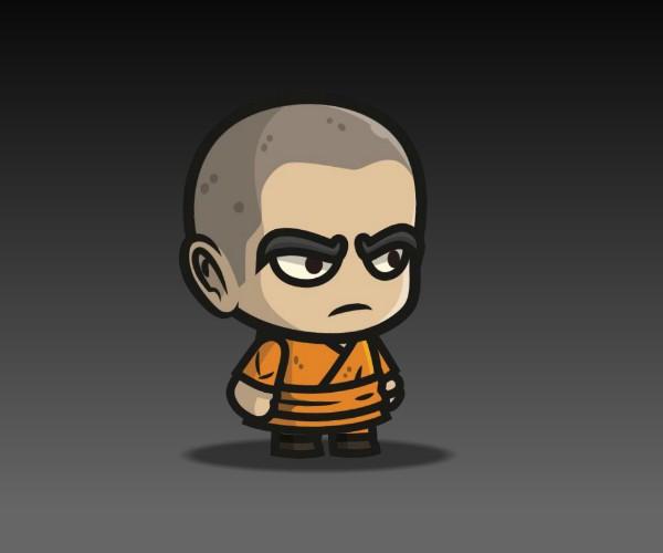 Monk Royalty Free Game Art