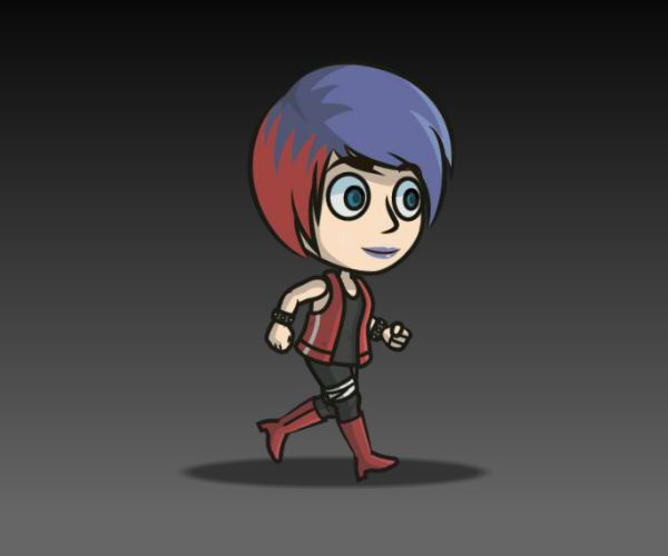 Punk Girl Royalty Free Game Art Character