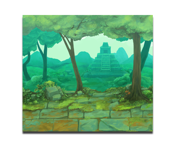 Mayan Temple – Game Background - Game Art Partners