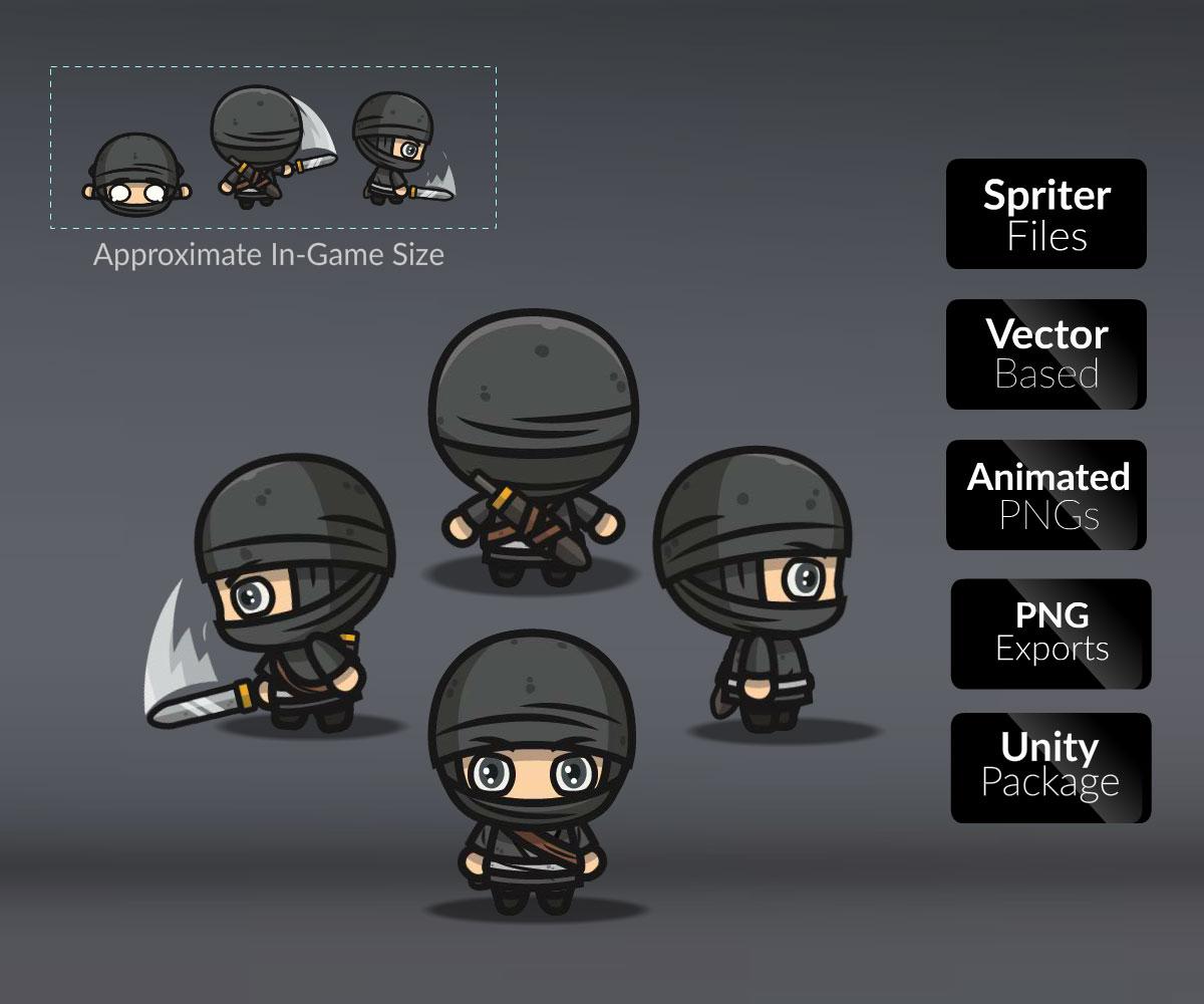 Top Down Ninja - CartoonSmart com