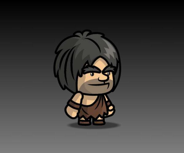 Caveman royalty free game art character