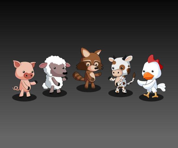 Farm Animal Friends Royalty Free Game Art