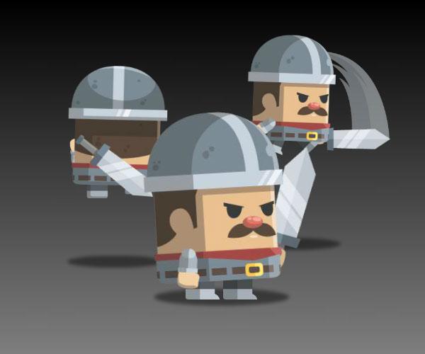 Flat Style Castle Guard