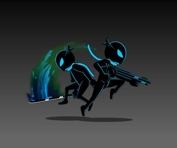 Ninja Shadow Silhouette Character