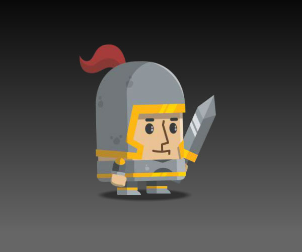 Flat Style Medieval Knight
