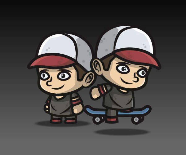 Skater for endless scroller game royalty free game art 2