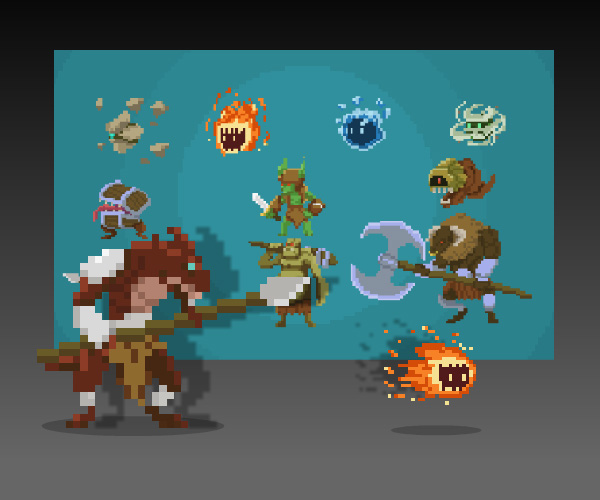 Pixel-Art-Monster-Pack Pixel Art Game @koolgadgetz.com.info