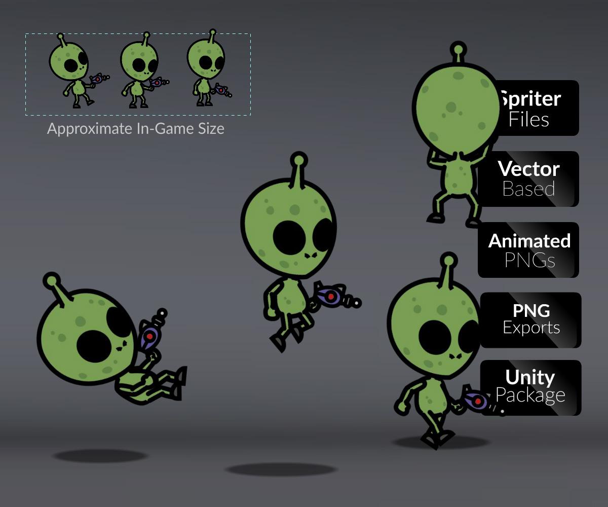 Green Skinned Alien Character - CartoonSmart com