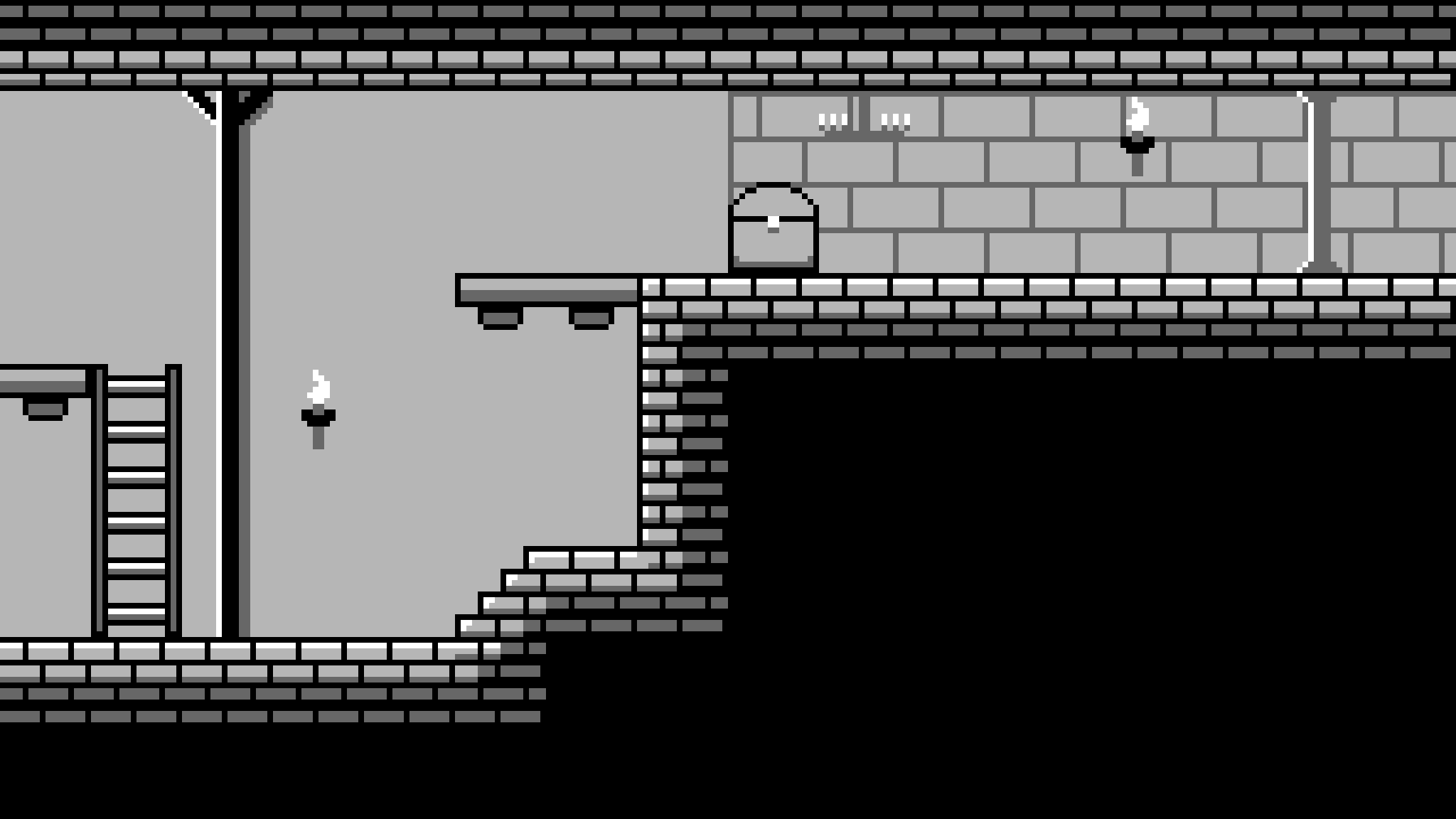 16X16 Tileset gameboy style dungeon tileset - game art partners