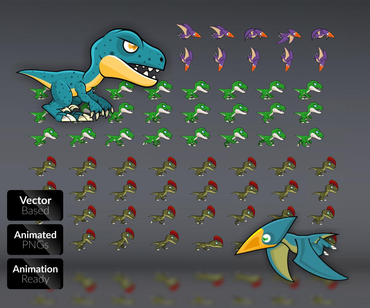 Royalty Free Game Art Dinosaurs