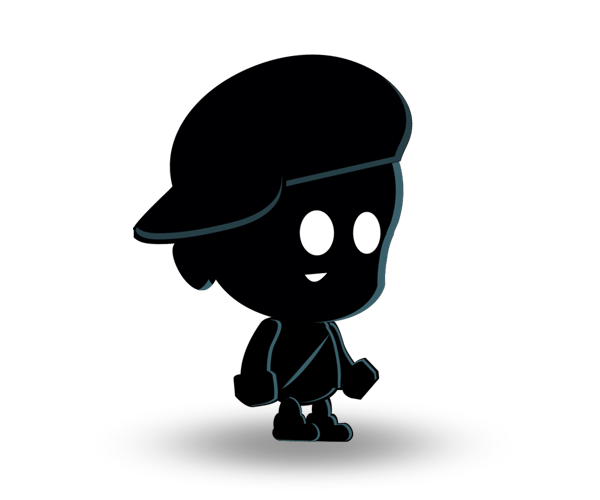 Shadow Boy Royalty Free Game Art Character
