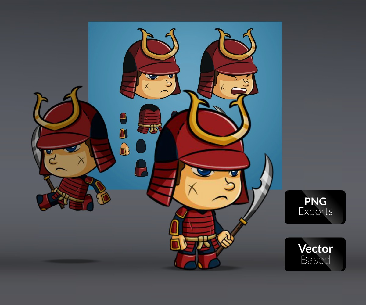 armored samurai royalty free game art gallery1