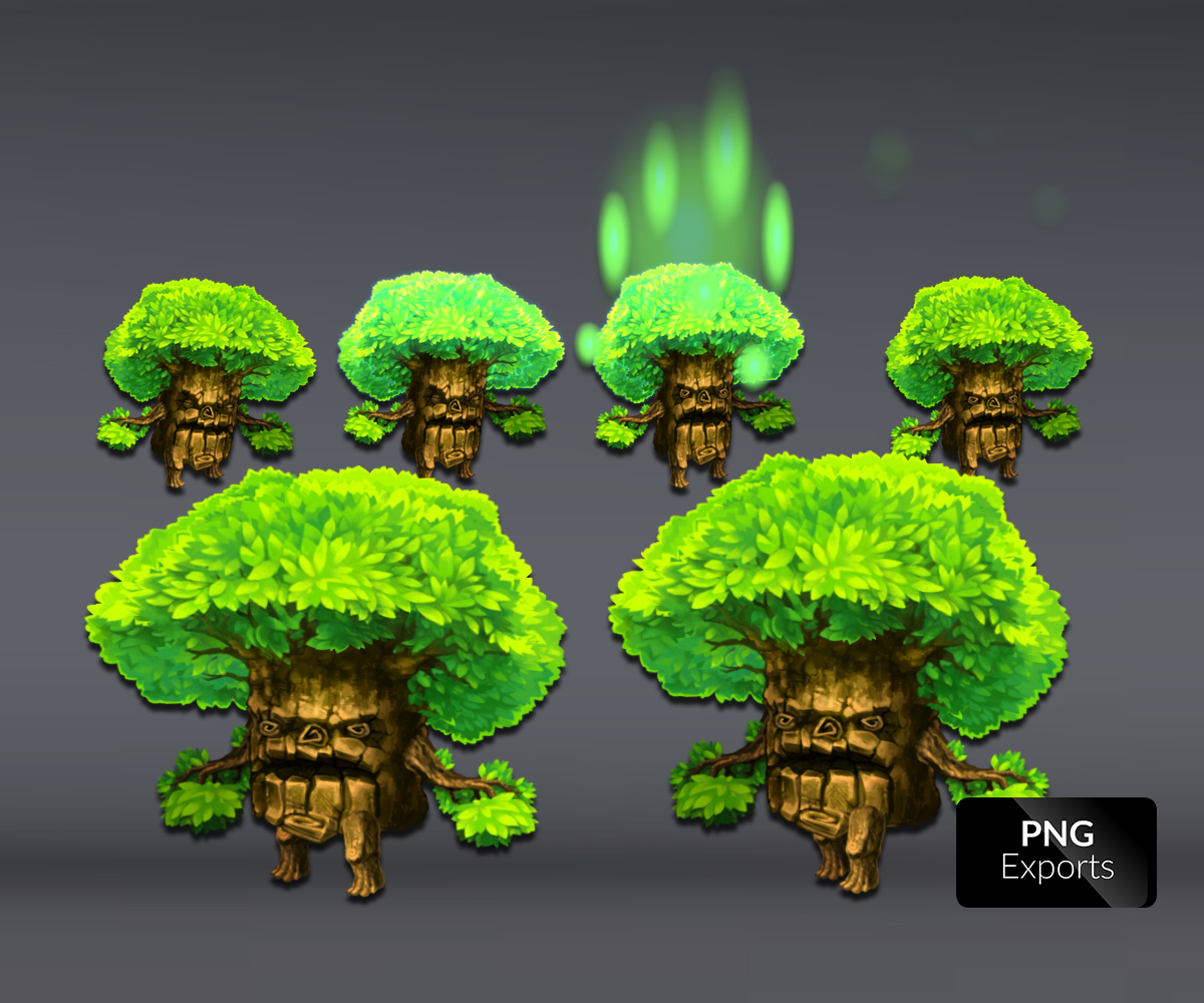 Walking Tree Royalty Free Game Art