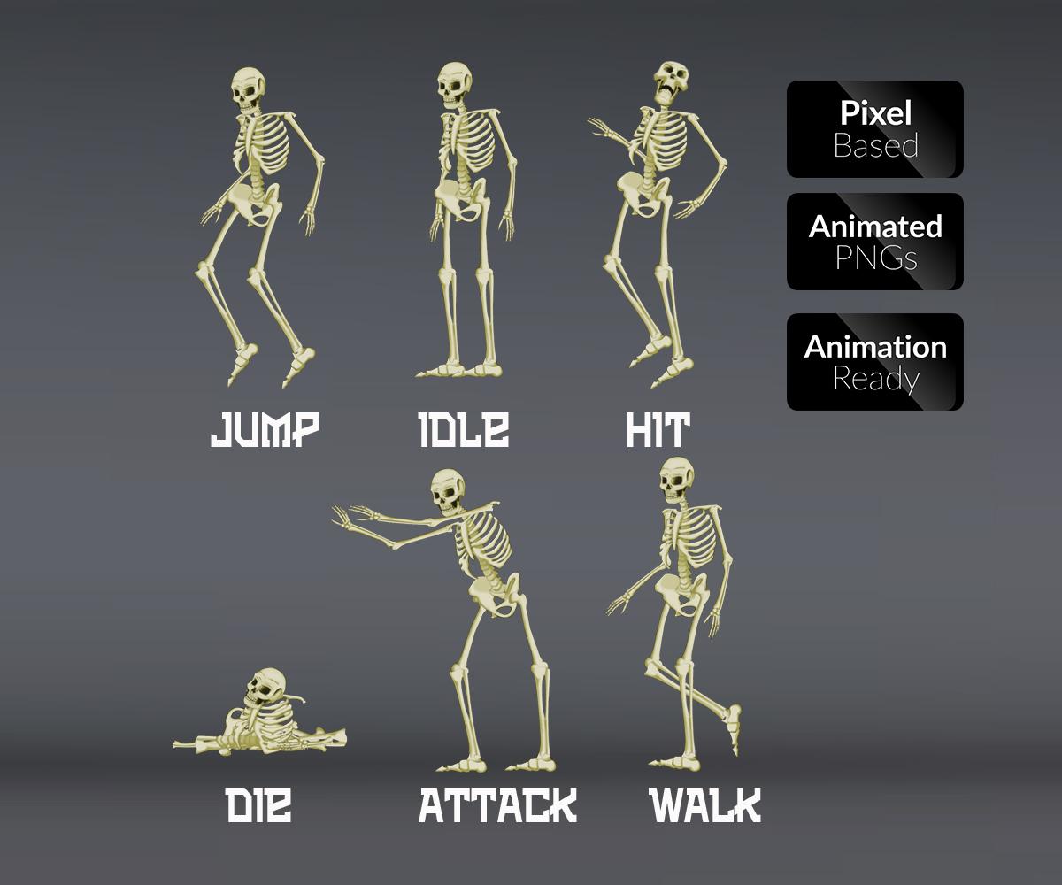 Skeleton - Royalty Free Game Art