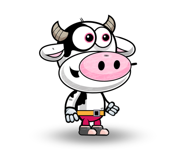 Cow Royalty Free Game Art Character