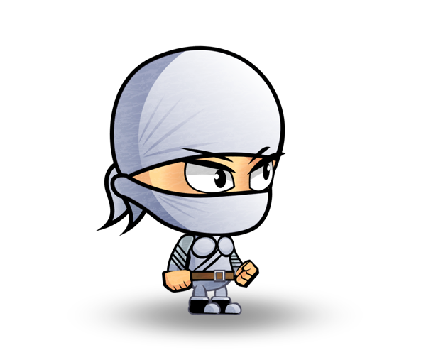 Sultry Ninja Royalty Free Game Art Character