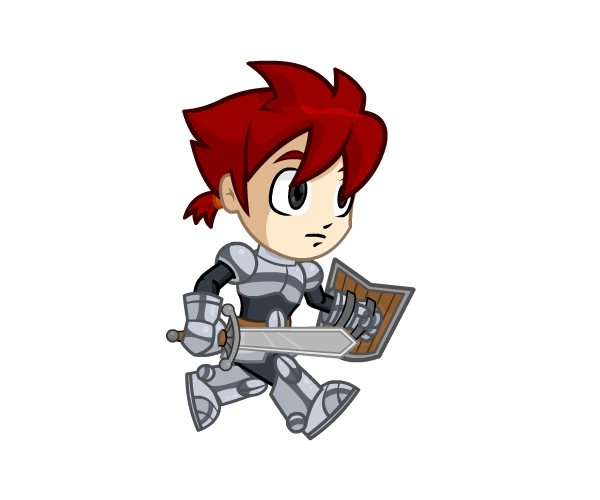 Chibi Knight Royalty Free Game Art