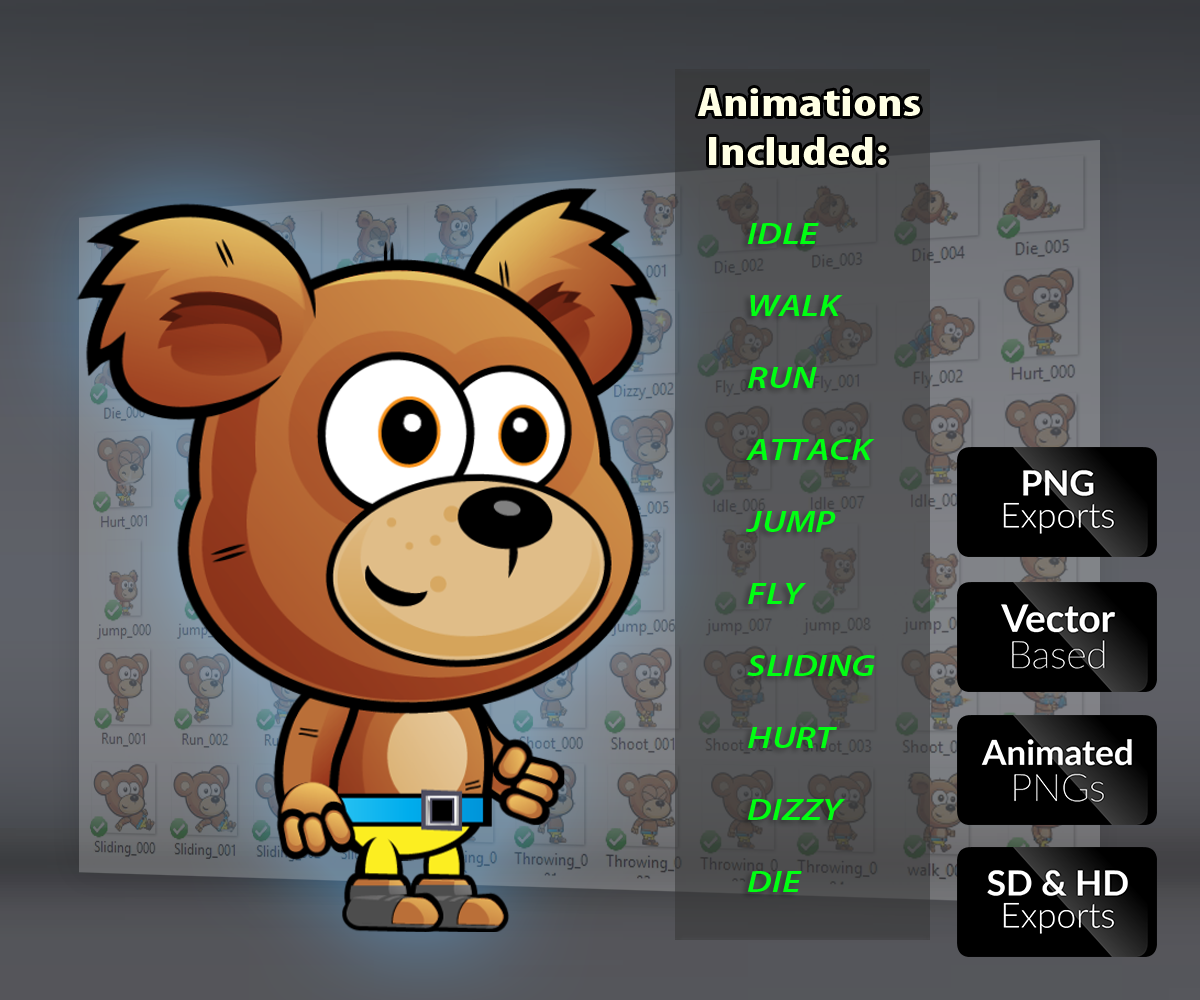 Bear Royalty Free Game Art Character