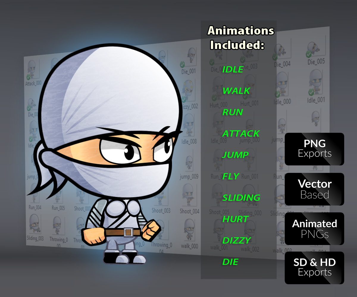 Ninja Royalty Free Game Art Character