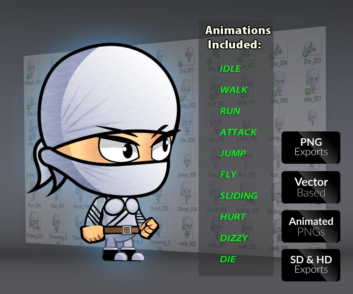 Ninja Royalty Free Game Art Character