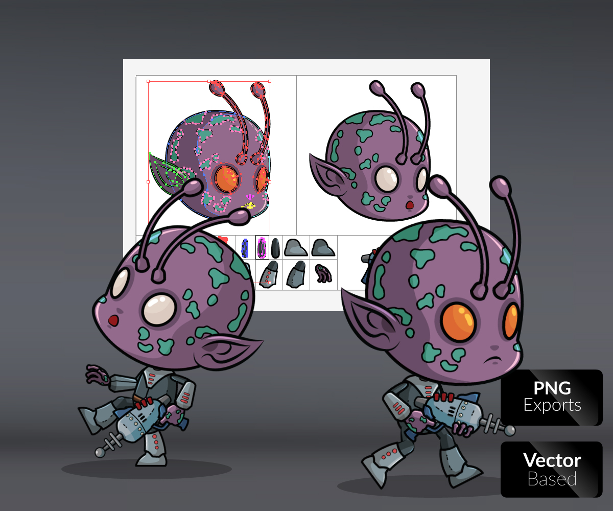 Alien Game Art Royalty Free