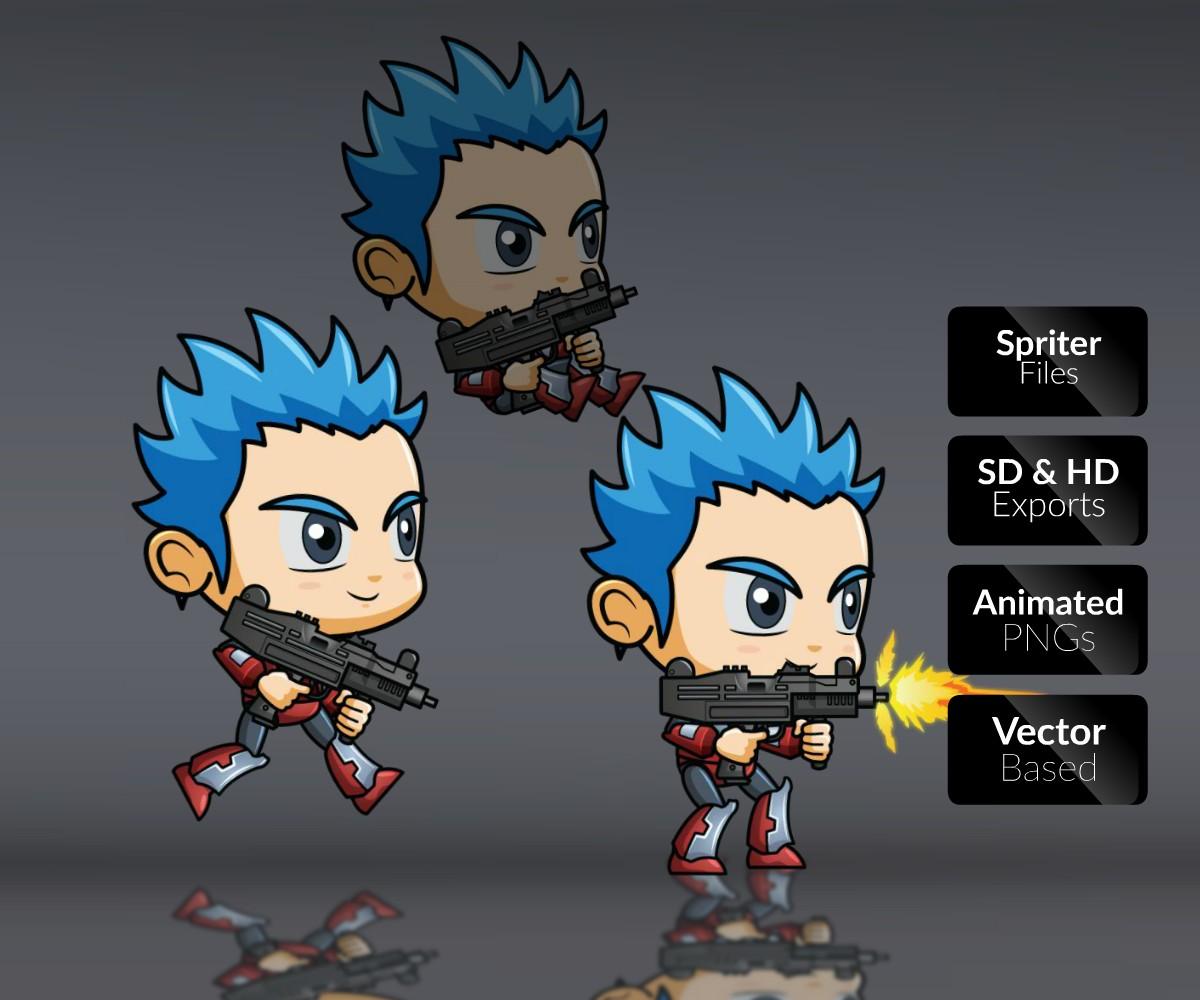 Army Joe Game Art Character 2