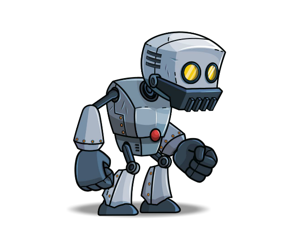 Cartoon Characters As Robots : Royalty free game art