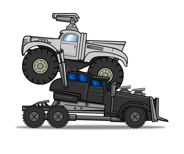 War Cars Royalty Free Game Art Mad Max Style