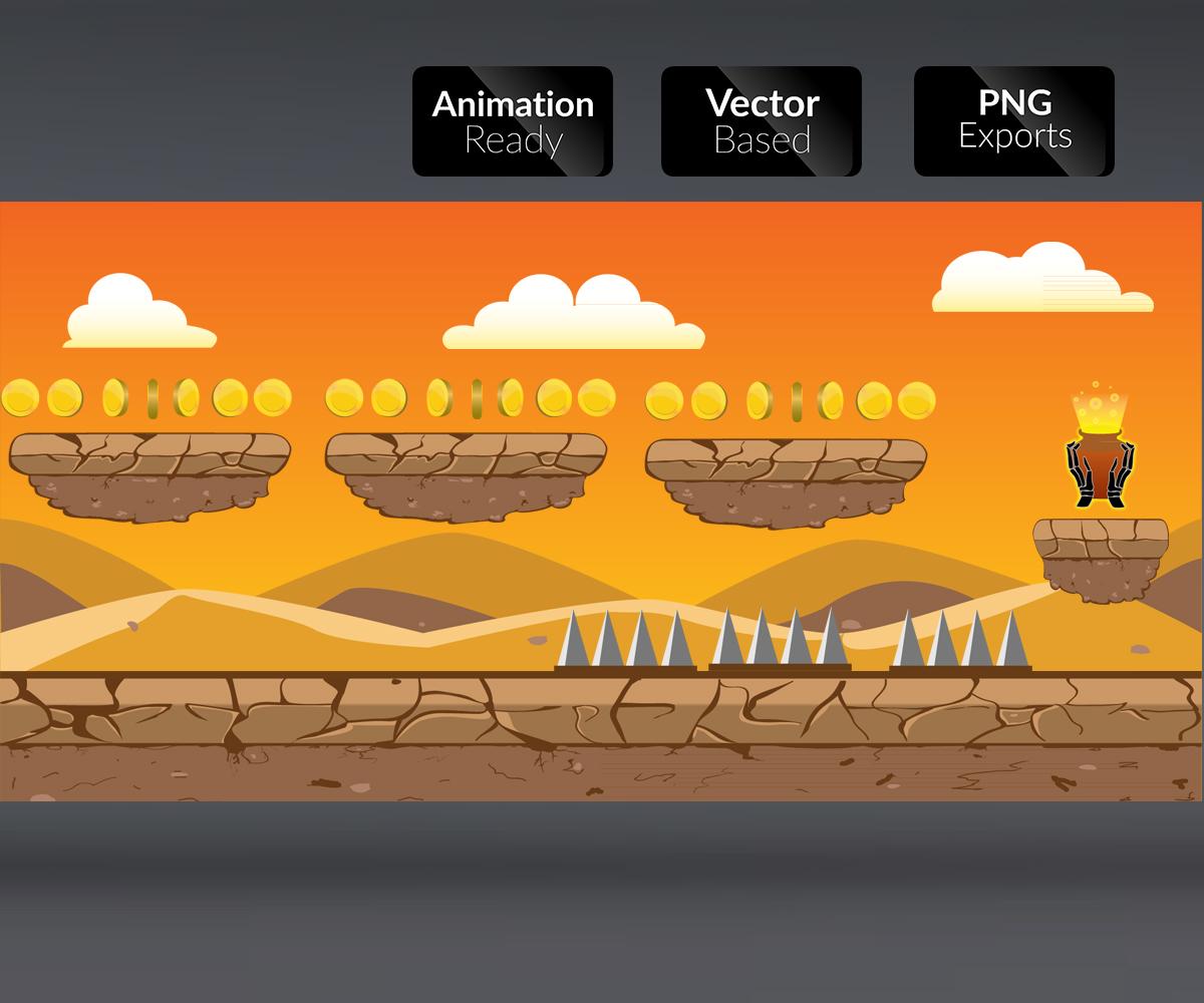 Desert Background game art royalty free level